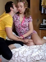 Teen Bony got naughty with her friend who seemed to be gay but was obsessed only with womens...