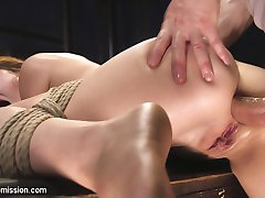 Audrey Holiday is obsessed with putting things in her ass. When her late night masturbation...