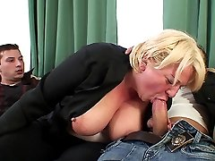The totally drunk granny hooks up with two guys and they have their way with her wet pussy