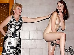 The pretty teen redhead gets busy with her boyfriend039s mom and the tongue action is hot