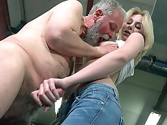 After she had hooked up this old goes young guy, Frances did not need to do much. He took over...