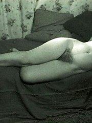 Vintage models posing nude