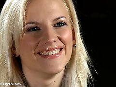 19 year old Haley Cummings has huge natural tits that were made for being tied up, exposed in...