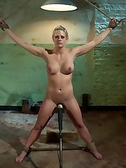 The third day is the hardest for Holly Hearts hungry slave pussy.