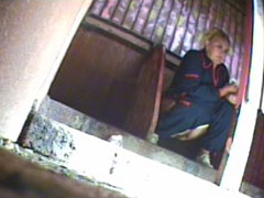 Girls and oldies exposed to spy cam in public loo