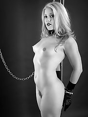 Hog tied then collared, this slut is now a slave