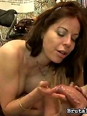 Kora Peters is getting ready in her dressing room for her next ball busting scene. She isnt...