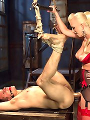 Like most men, Corbin Dallass cock wont stop dripping when around Mistress Cherry Torn, because...
