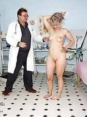 Mature pussy Alena visits her gyno doctor for real speculum exam