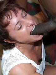 This mature female bodybuilder loves the black cock