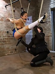 Lyla cums back for more in her intense no holds live show.She first starts bound in a strappado...