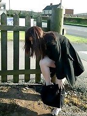 Amateur nude in public