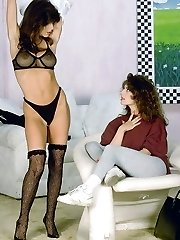 Nikki Dial lesbian play with busty friend Ashley