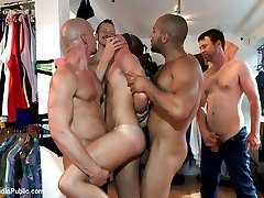 Leo Forte continues playing with his boy, Jordan Foster. He shares the blindfolded boy to the...