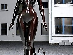 3D Latex porn. Only fantastic girl in latex