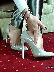 Mel knows that wearing high heel shoes will titillate and stimulate all men who have a fetish...