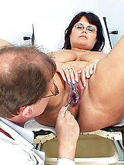 Daniela 42 years old mature with mega-tits annual gyno exam