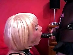 Zoe gets fucked and sucked by a femdom with a strapon