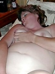 Cucumbers and celery in plump wife pussy