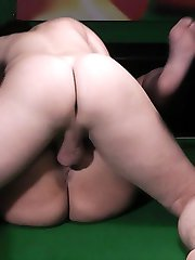 Horny pool coach goes wild fucking a glamorous BBW babe right on the table