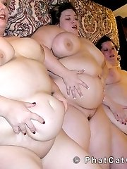 BBW threesome all girl sex