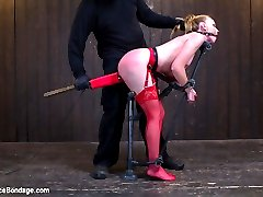 Marie is a slutty redhead who loves to suffer in grueling bondage. Her all natural body begs to...