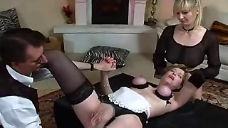 Busty secretary getting pussy pounded in her stretchy control top pantyhose