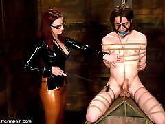 She has her hands full with two submissive sluts, but Miss Adams has enough sadism to keep them...