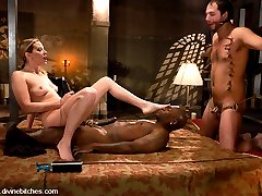 Maitresse Madeline has two slaveboys on hand during her live launch day performance. Jack Hammer...