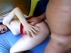 Amateur redhead pounded hard in her very hairy snatch