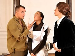 Russian Discipline - Bound and spanked