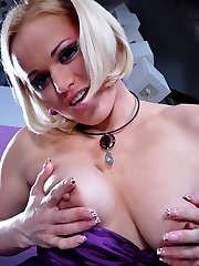 Sissified dude in a little black dress gets his itchy ass crammed by a girl