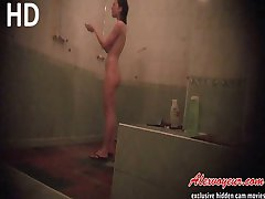 Naked girls voyeur shower room vids are really exciting