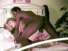 Interracial retro threeway