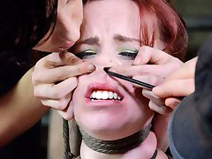 Whats it like being impaled on a stake, Bella? Whats it like to have a metal dildo jammed so far...
