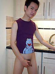 Cute asian gay twink wants his tight asshole to be fucked hard