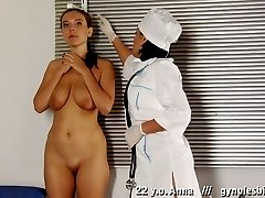 Anal and vaginal medical lesbian fingering