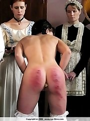 Young cute girls from Eastern Europe brutally spanked with the cane