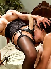 Lyla and Brooklyn Lee, two horny lesbian co-eds, get caught red handed in Lylas mothers house...