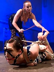 Lily LaBeau returns in an explosive sadistic dungeon scene with Bella Rossi on top. Lily suffers...