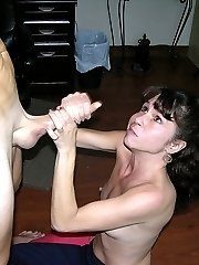 True Amateur Models Soccer Mom Blowjob And Cumshot