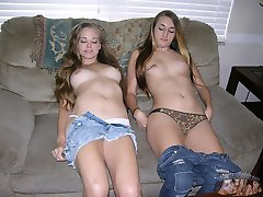 Two Amateur Teens Modeling Nude And Showing Their Buttholes - Abbie And Amy