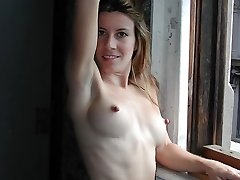 Tanned Amateur Babe with Real Nice Boobs Posing
