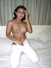 Amazing Asian shemale showing her massive penis