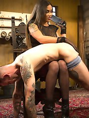 Ts Tori Mayes has one very important question for her slave Will Havoc, Are you ready to please...
