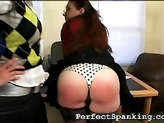 This secretary has a sensitive pair of ass cheeks, reddening instantly. But her boss, a mean...