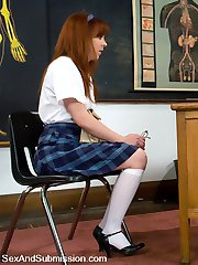 Trinity Post makes up a bad grade on Marks terms. Instead of taking a test, she gets tied up,...