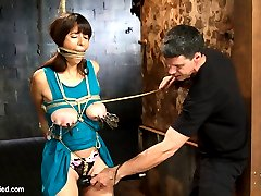 Nina Lopez brings a giant set of natural guns to HogTied, and come to find out her pussy is...