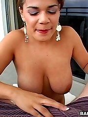 She plays with her tits