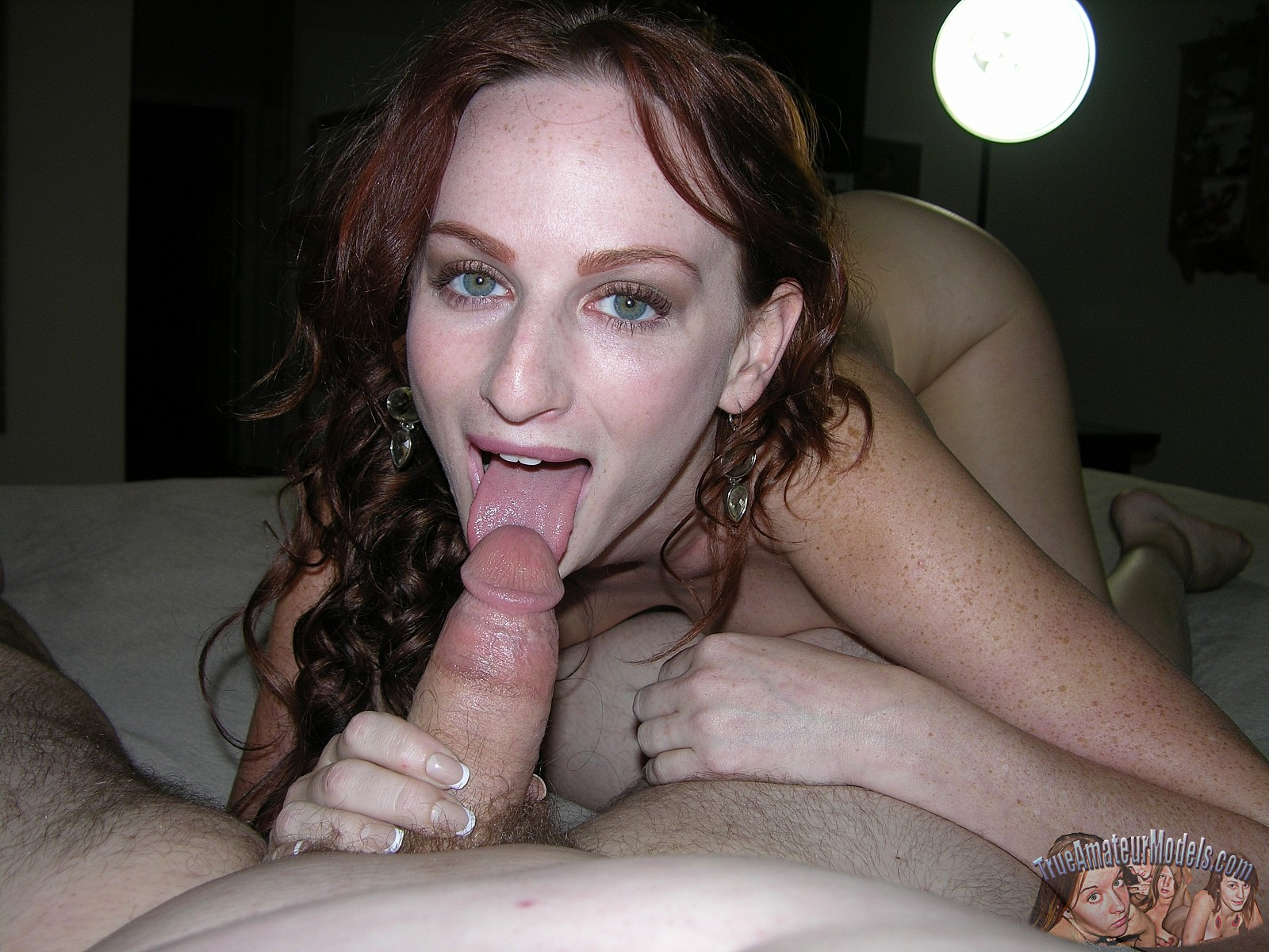 Hot Amateur Redhead Blowjob